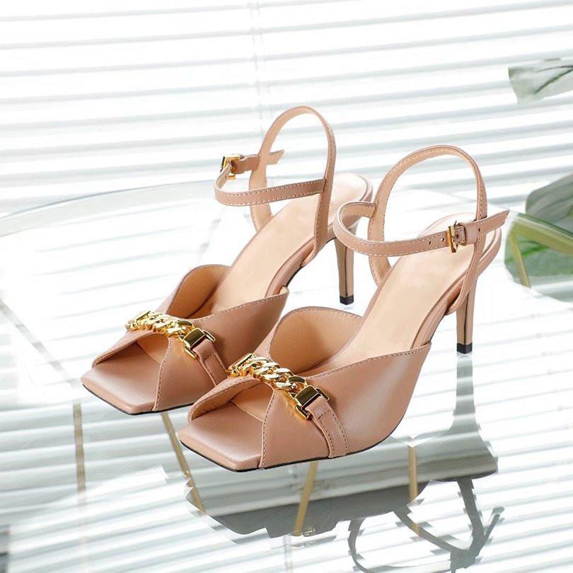 Gucci Sandálias femininas designers de salto alto criam alta qualidade verão praia casual sandálias disponíveis em uma variedade de cores 45w