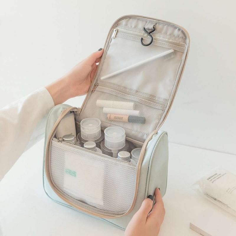 Sacos de lavagem de suspensão Saco para cima poliéster artigos de toalizadores organizador mulheres armazenamento neceser saco banho banheiro maquiagem de viagem fazer tacxw cosmético