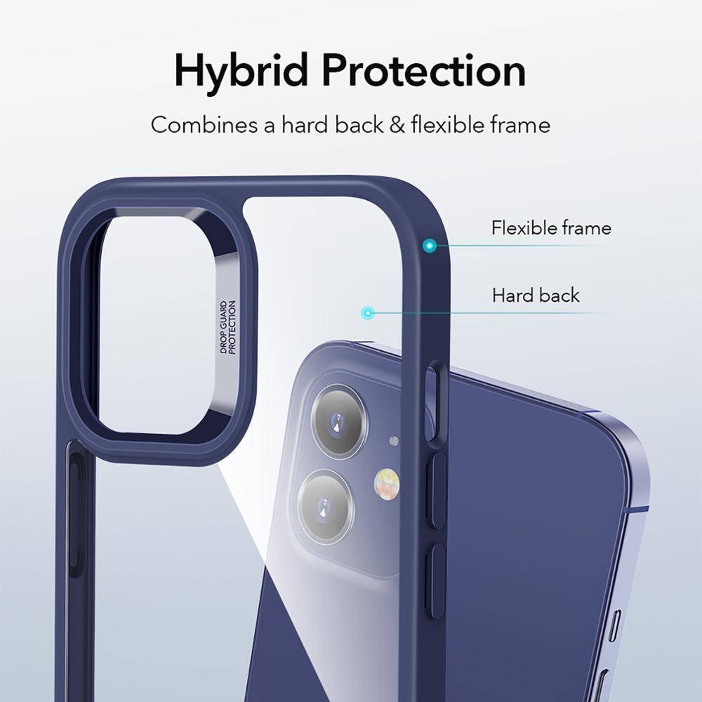 Caso de telefone para iPhone 12 pro max clássico híbrido estojo de absorção de choque para iphone 12 mini cristal luminoso tampa traseira fundo coque