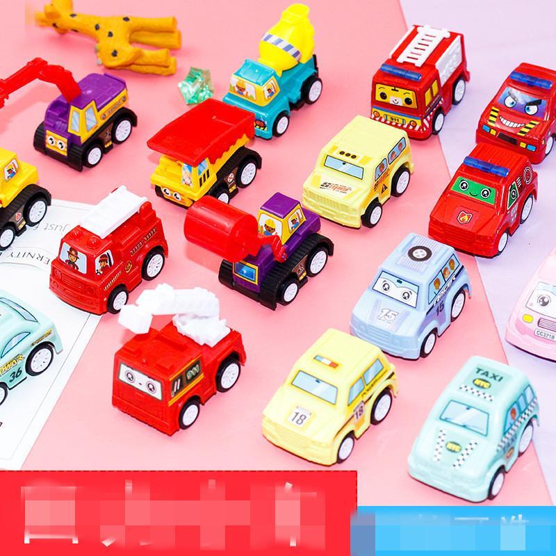 6 adet Geri Çekin Araba Oyuncaklar Araba Çocuk Yarış Araba Bebek Mini Arabalar Karikatür Geri Çekin Otobüs Kamyon Çocuk Oyuncakları Çocuk Erkek Hediye
