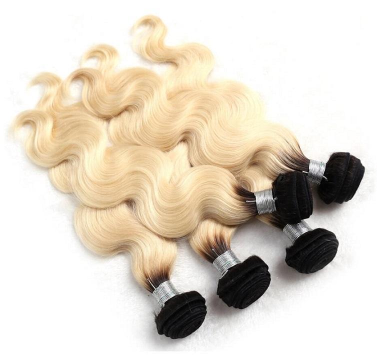 حزم الشعر نسج 1b 613 اللون البرازيلي الجسم موجة 8-28 بوصة 3 حزم عذراء الإنسان الشعر حزمة ملحقات سميكة لينة البائع مصنع