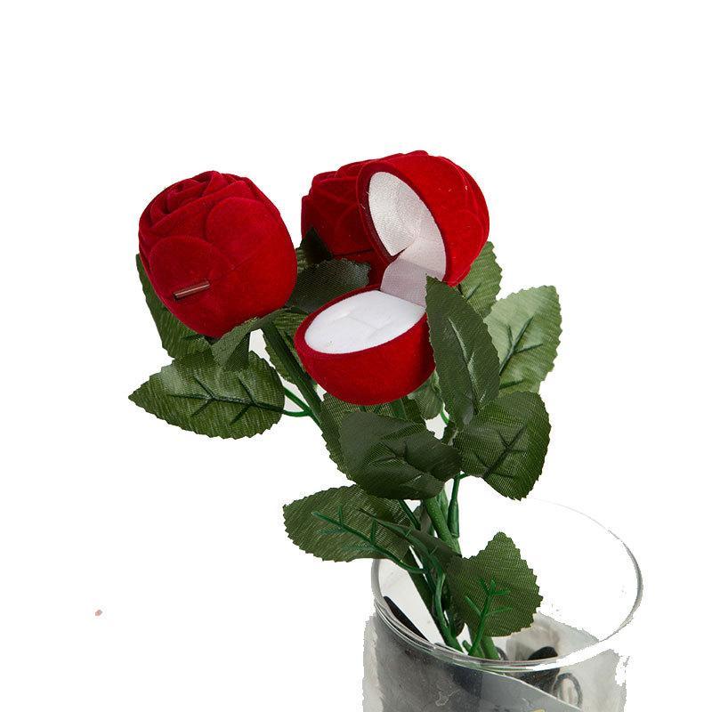 أحمر روز شكل مجوهرات الحالات الزخرفية عرض الزهور التعبئة والتغليف هدية صناديق الدائري مفاجأة الاقتراح الملحقات مربع هدايا عيد الحب