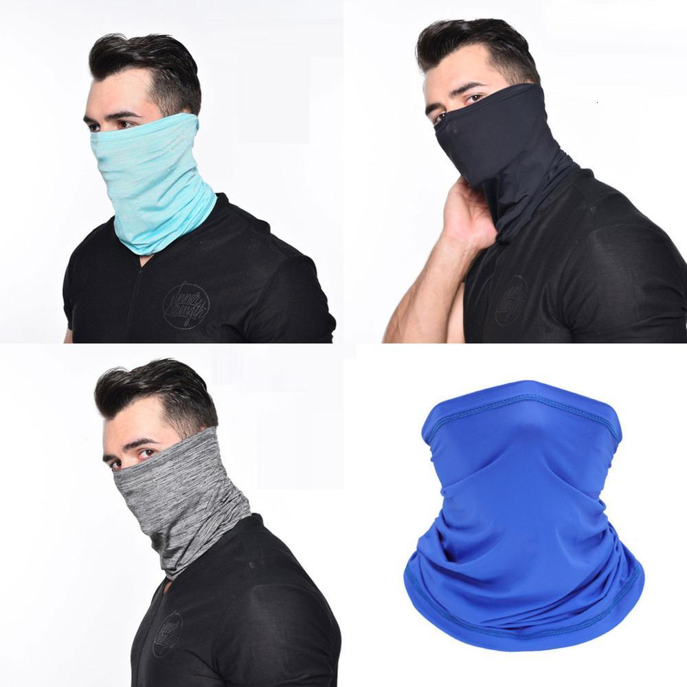 Schal Sommerkühlung Radfahren Maske Hals Gaiter Gesichtsmasken staubdichter UV-Schutz atmungsaktiv für das Wandern läuft 6colors