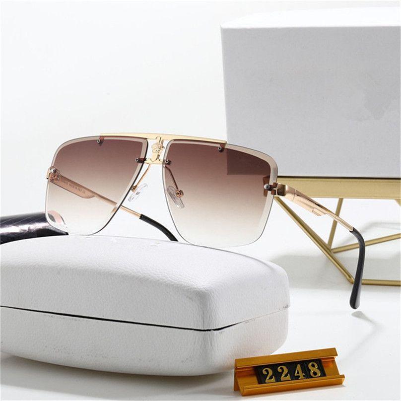Óculos de sol de luxo óculos de sol moda óculos frames sem aro cavalheiro óculos óculos liga quadros laser micro logotipo de alta qualidade óculos de sol