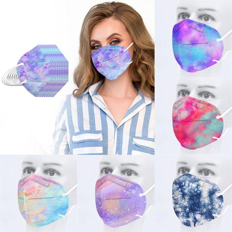 Máscara de diseño de moda Máscara KN95 colorida para adultos y niños de 5 capas a prueba de polvo y transpirable
