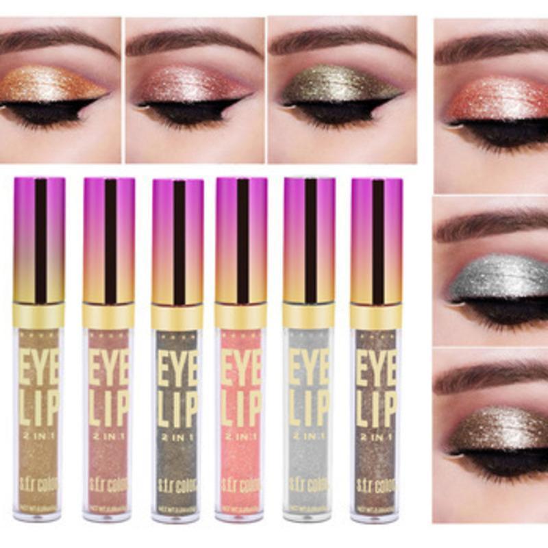 6 Цвет Pearle Блеск Liquid Eyeshadow Водонепроницаемый Пигмент Продолжительный Non-нечеткое тень девушки женщин Charm глаз Макияж Косметика