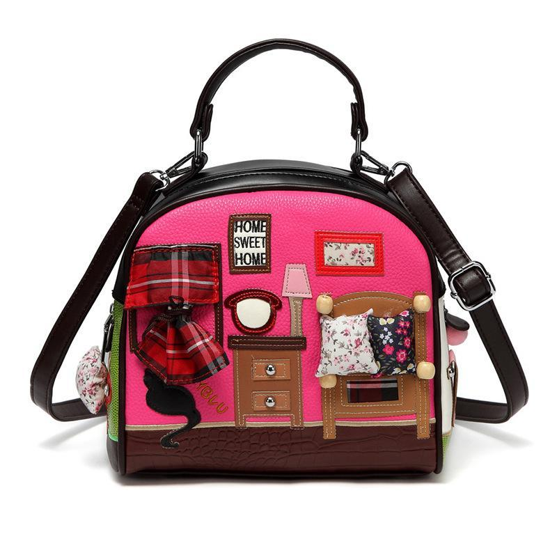 Small bag shoulder bag handbag 2020 new female retro shell casual stitching diagonal women's personality