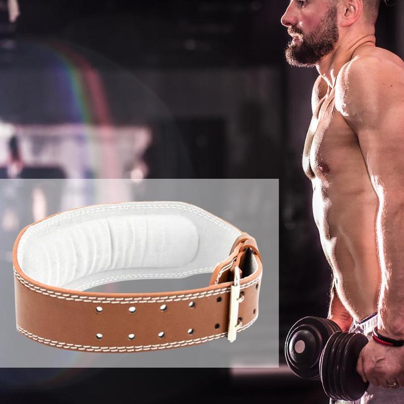Ceinture d'haltérophilie chaude Bodybuilding Fitness Barbell Puissance Puissance Formation Taille de la taille Gym Courroie de gymnastique à dos avec tapis éponge