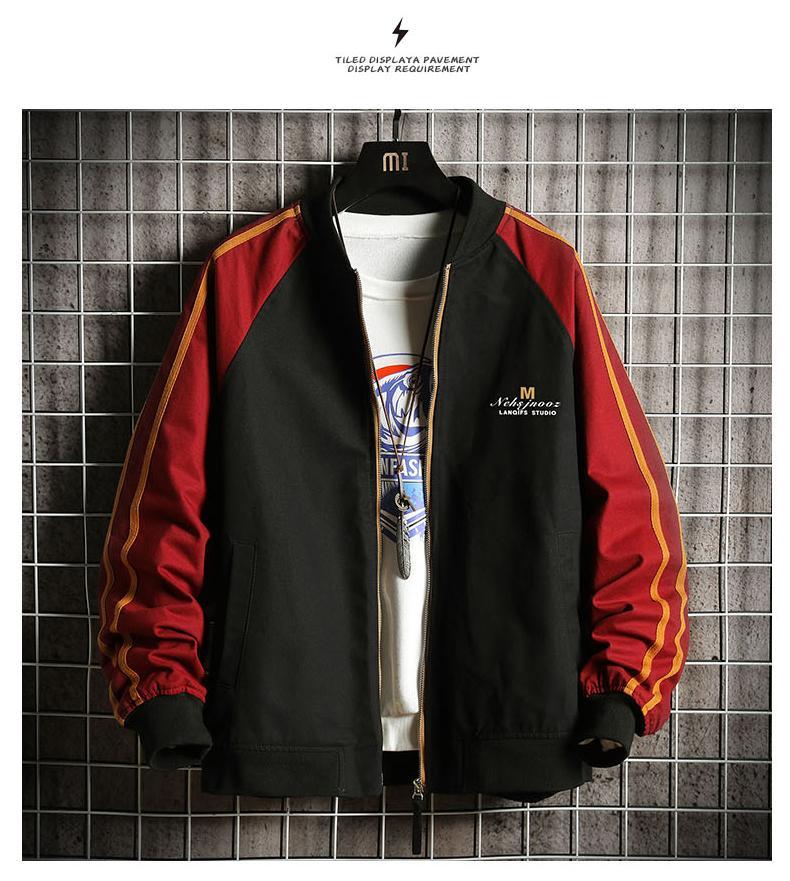 Nero La nuova marea di Han Edition Joker Giacker per aggiungere abiti di lana spessa montati da baseball autunno