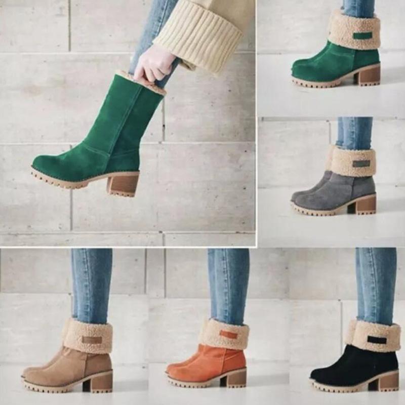 Зима теплая голеностопного снег пинетки Martin Австралия загрузки Lady Boots ковбой Bottes Chaussons обувь Женщины Большой размер 35--43 с Opp Bag