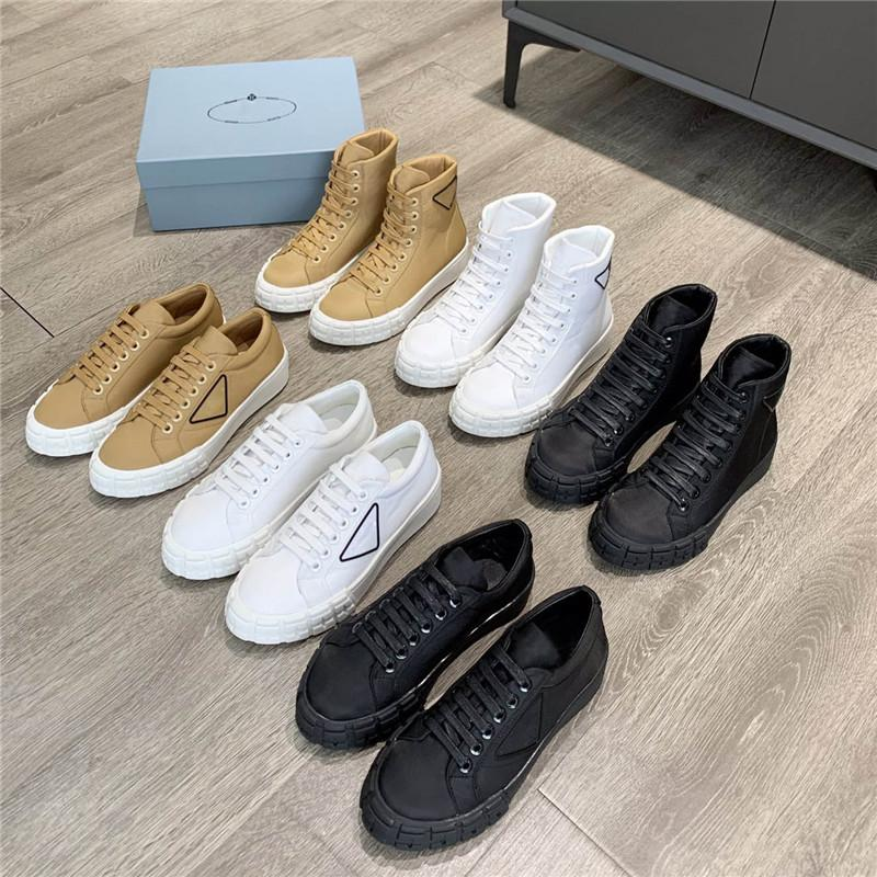 Sneakers de designer Roue Cassetta Plat Chaussures Femmes High Top Tissu Entraîneurs Formateurs Top Top Top Top Toile Couture de la roue de toile Tracking Entraîneur