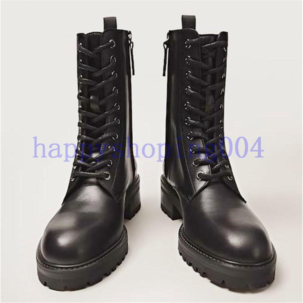 2020 новый универсальный стиль Martin Boots Высокое качество Легкий 3см Низкий каблук короткие ботинки 100% натуральные кожаные мотоцикла женская обувь