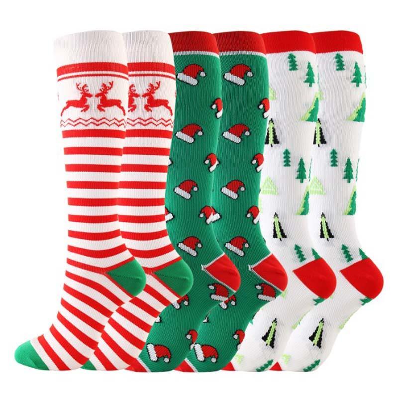 여성 슬리퍼 양말 산타 사슴 두꺼운 양털 라이닝 니트 동물 안티 미끄럼 크리스마스 스타킹 따뜻한 아늑한 퍼지 홈 양말