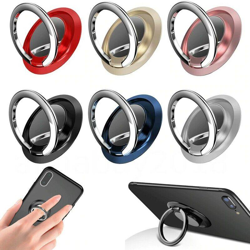 Стойка держателя кольца пальцев 360 ° вращается для мобильного телефона автомобиль магнитный монтаж iPhone 12 11 Pro Max 12 мини Huawei