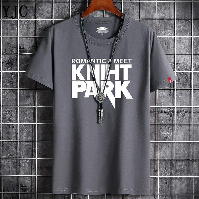 Camiseta de verano de la alta calidad de los hombres Casual manga corta o-cuello 100% algodón camiseta de los hombres de marca blanca camiseta del negro de la camisa F-2