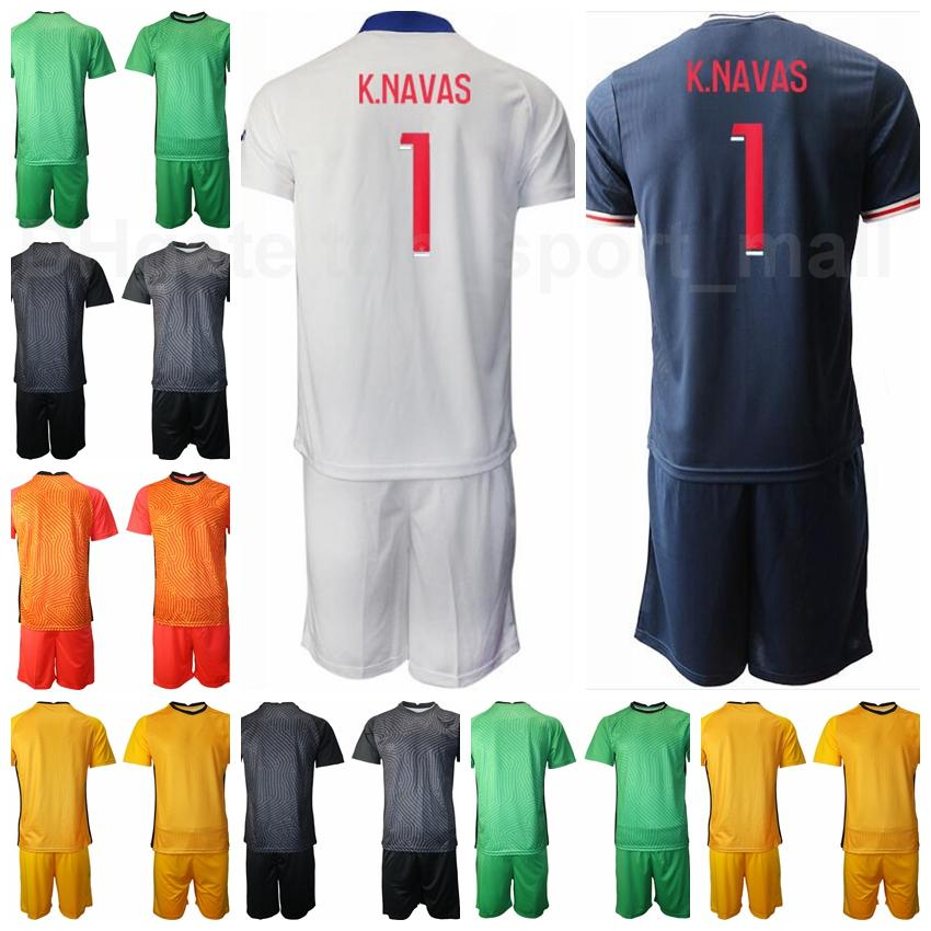 20 21 hombres portero gk portero fútbol 16 Sergio Rico Jersey Keylor Navas 1 Nicolas Douchez 16 Alphonse Areola Football Shirt Kits B-L