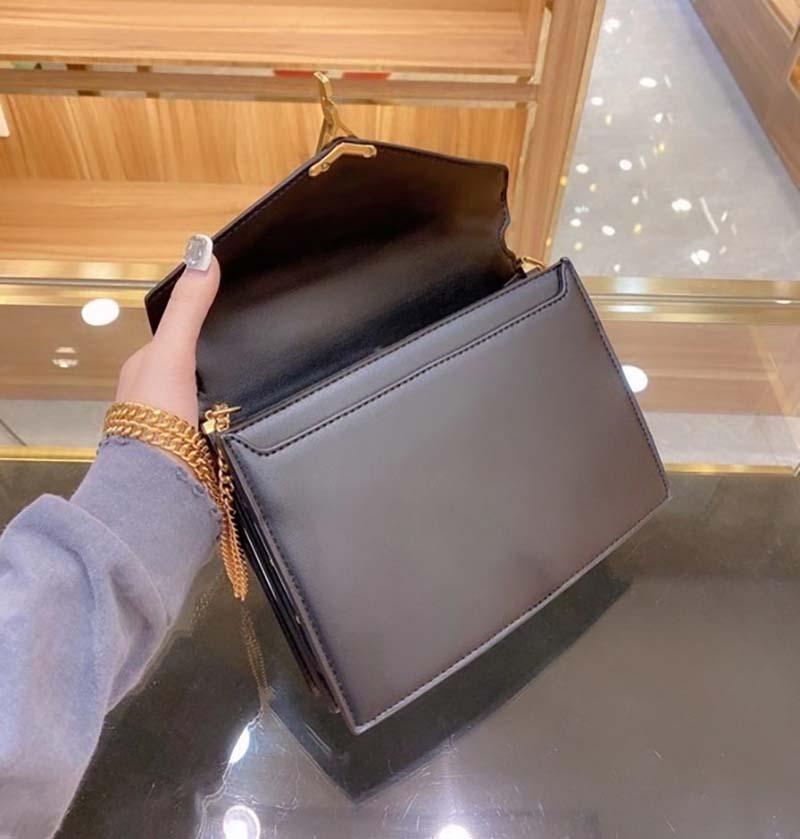 Venda quente tendência de alta qualidade senhoras moda bolsa de ombro clássico envelope saco senhora wallet com caixa de embalagem saco de poeira