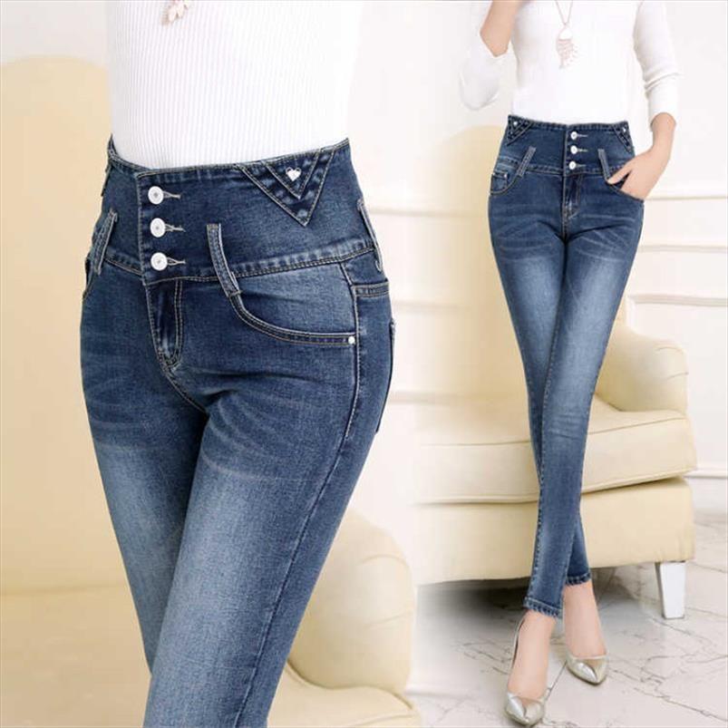 2019 женщина джинсовые карандаш брюки растягивающие джинсы высокие талии брюки женские худые джинсы женщины плюс размер черный джинсы панталон джин