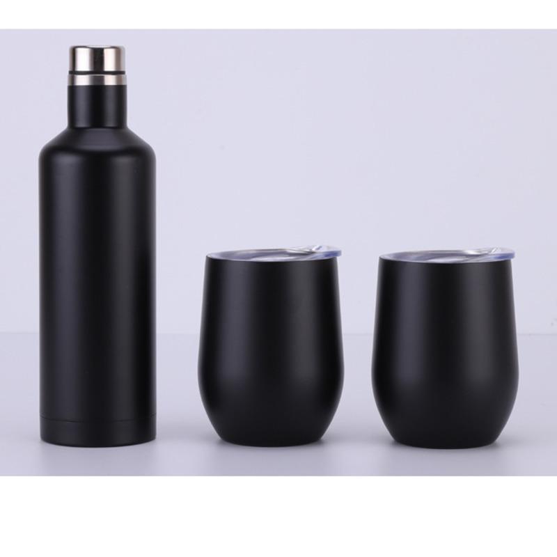3шт много подарочный винный набор яичный набор из нержавеющей стали двойная стена изолированы с одной бутылкой два 4 цвета варианты тонкой кости Китай чашка чая