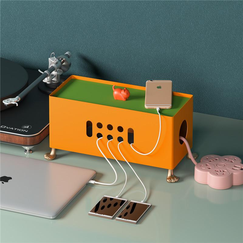 Creativo cartone animato Big Piedi Power Socket Data Cable Cable Deposit Box Stylish Office Desktop Organizer