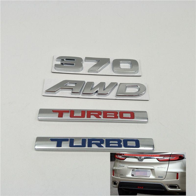 Para Honda URV CRV Avancier Crown Accord Civic HR-V 370 AWD Turbo Emblem Boot Boot Troncs Tronc Full Logo Pegatinas de coche