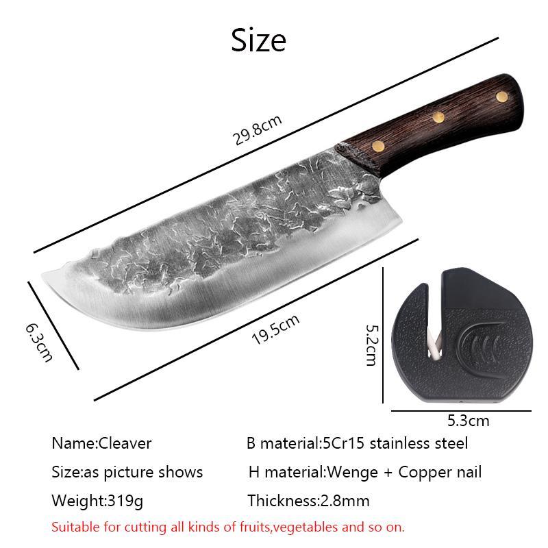 Инструмент китайский из нержавеющей стали кованые ножи кухонный резак кухонный овощной конечник Cleaver мясо прерывая нож ручной работы сталь BSGHC