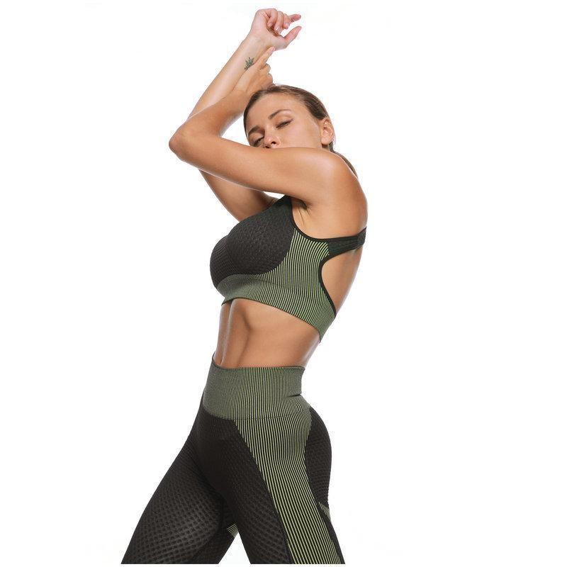 Women Yoga Set Gym Clothing Female Sport Fitness Suit Running Clothes Sport Bra +Leggings Women Seamless Gym Yoga Bra Suits Sqcvkr