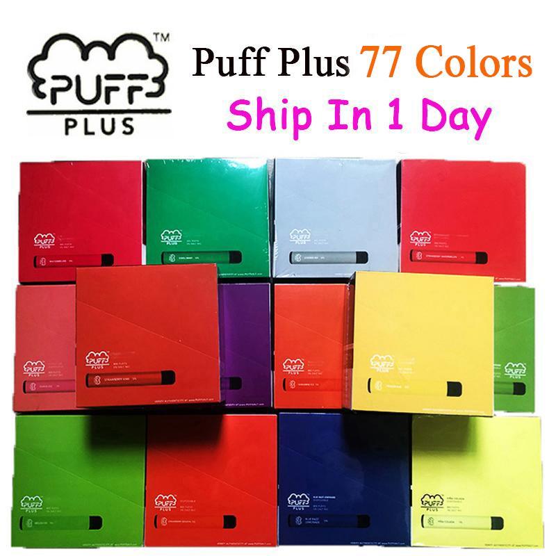최신 퍼프 바 플러스 800 + 퍼프 일회용 포드 카트리지 550mAh 배터리 3.2ml 사전 채워진 vape 포드 스틱 스타일 77 색 휴대용 기화기
