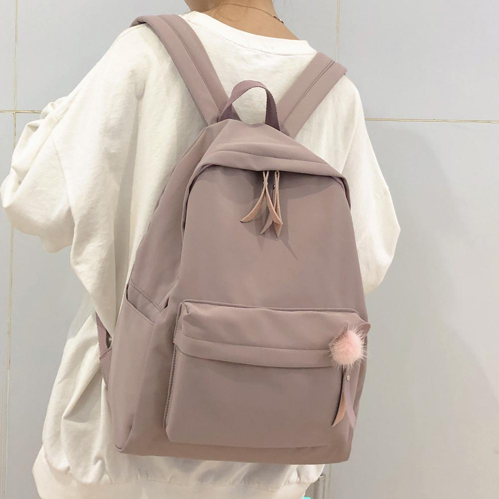 Female Vintage Cute Women School Bag Girl Waterproof Nylon Kawaii Backpack Ladies Luxury Student Bags Book Harajuku New Q1113
