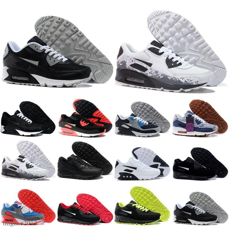 Vente en gros Hommes Sneakers Sneakers Chaussures Classic 90 hommes et femmes Chaussures de course Sports Trainer Coussin 90 Surface Sports Sports Sports