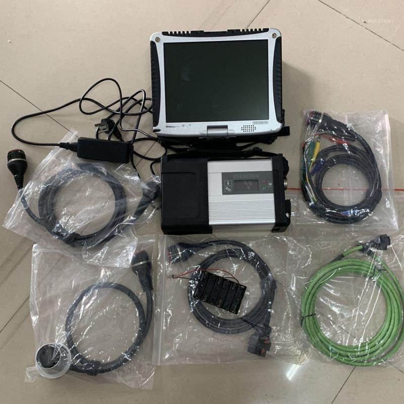 Ferramenta de diagnóstico MB Estrela MB SD C5 Connect Compact 5 com software SD multiplexador SSD 2020.03V em CF-19 Suporte para laptop HHTWIN1