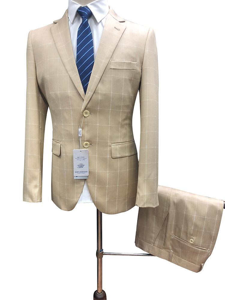 Erkek Takım Elbise Blazers Roettoni Ekose Erkekler İki Adet Ince Fit Kontrol Adam Tailorcoat İş Rahat Erkek Ceket Gelenler için Tavsiye