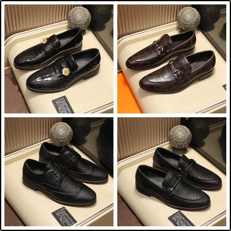 Mode Patent Leder Männer Kleid Schuh Männliche Zeige Zehe Formale Schuhherren Hochzeit Schuhe Büro Oxford Schuhe für Männer Schuhe