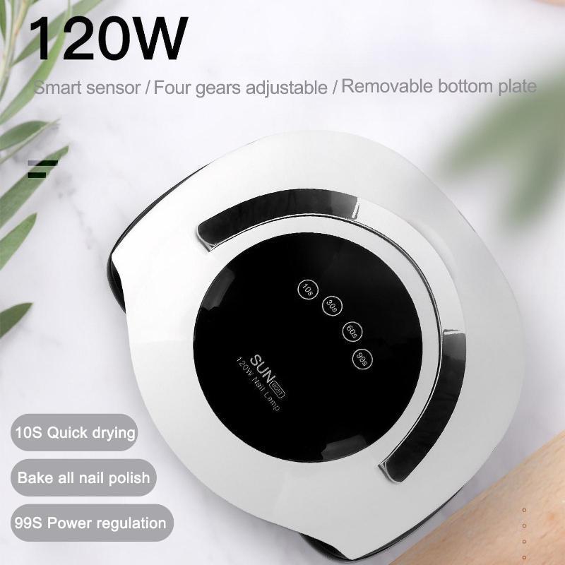 Автоматический датчик 120W быстрый сушилка для ногтей УФ-ламп для салона ногтя на ногтях маникюр для ногтей УФ-гель лака