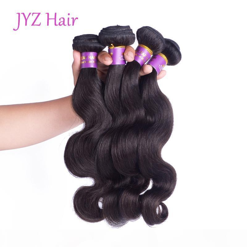Free Shipping Peruvian Virgin Hair Bundles Body Wave Hair Weaves Malaysian Indian Brazilian Remy Human Hair Extension For Black Women