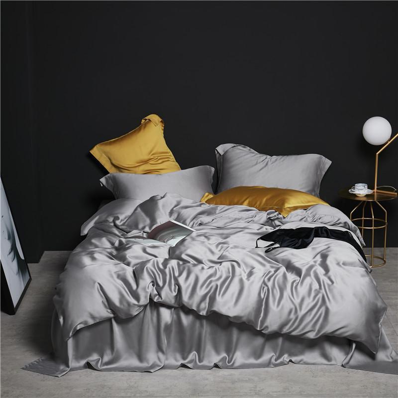 Conjuntos de ropa de cama 10 Color Hogar Textil Solid SOFT SOFTEL CAMA DE CUBIERTA DE LA CUBIERTA DE LA CUBIERTA / HOJA DE AJUSTE Funda / Cama