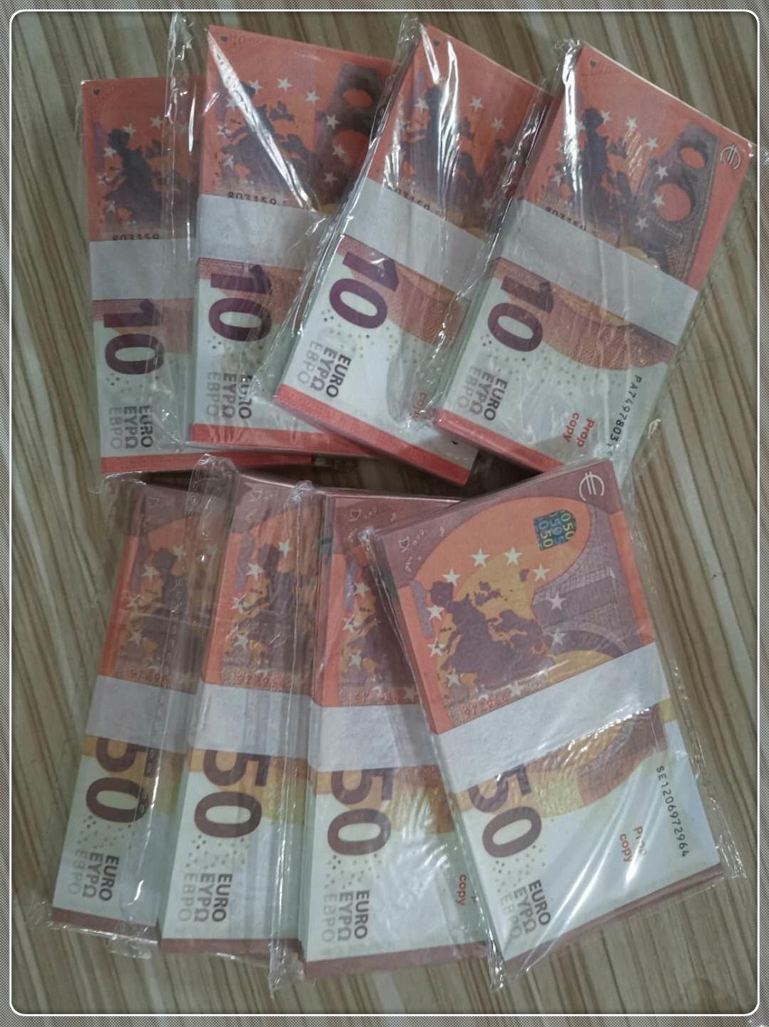 Top Quality Prop money moneta contraffazione Euro sterlina Dollaro Bar Atmosphere Stage Party Prop Nota Billet Bambini regalo Giocattolo Biglietto La-119