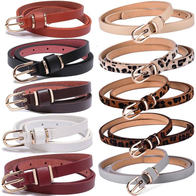 Magro in pelle Cintura donna solido della vita di colore o Fianchi Ornamento 10 Taglie 1.5cm largo leopardo cintura fascione signore e ragazze