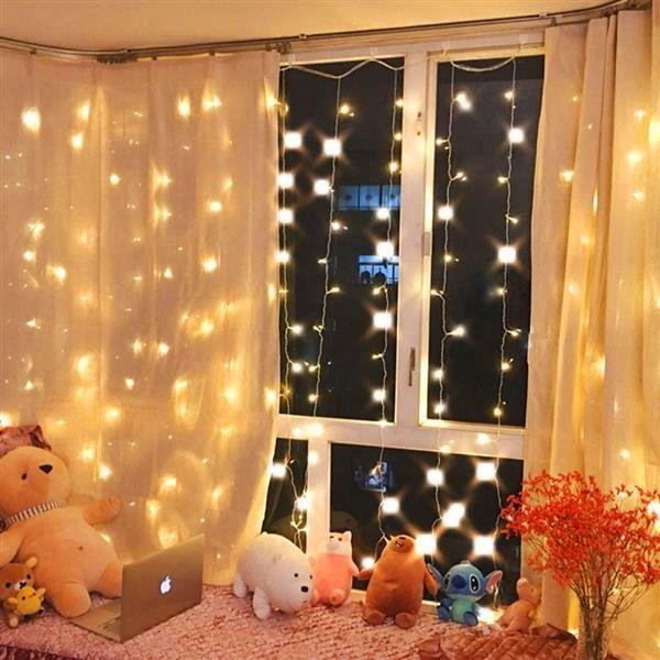 Best Seller 300-LED Sıcak Beyaz Işık Romantik Noel Düğün Açık Dekorasyon Perde Dize Işık Yüksek Parlaklık Dizeleri Işıkları