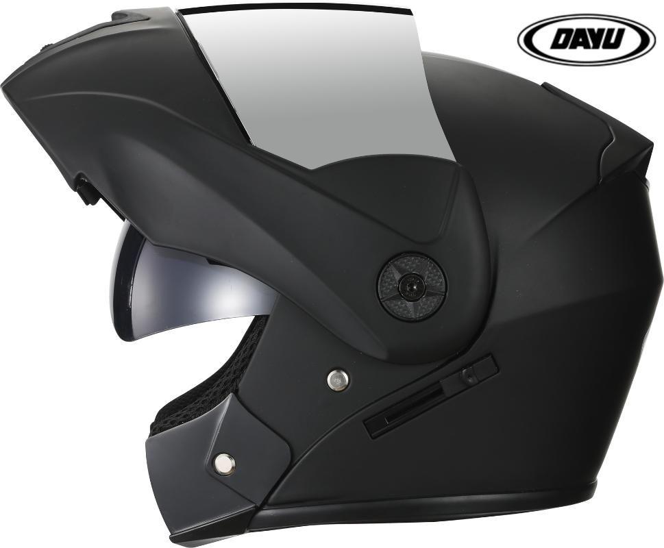 Rushed Flip Up Motorcycle Helmets Full Face Motocross Helmet Modular Dual Lens Racing DOT Cascos casque Moto Safe capacete casco