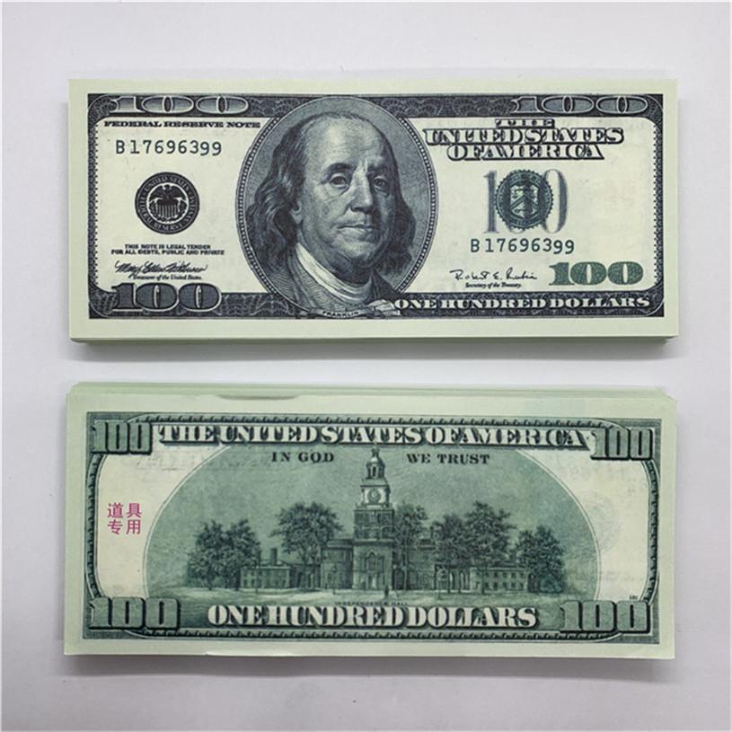 Copiar Jogo Moeda O34 Adereços Venda de Crianças Contrafeit 100 Dinheiro Dólar Quente Fast Brinquedos Banco Money Demonstry 100 QMKIA INOQC