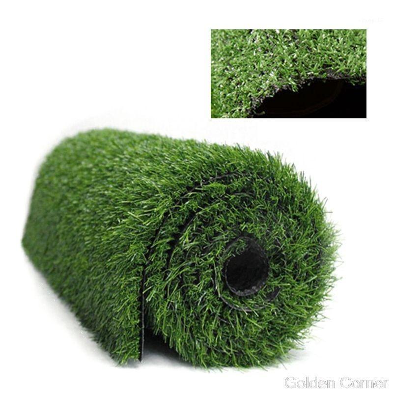 Толщина 1 см Толщина искусственного газона ковер фальшивая газонная трава трава пейзаж Pad Diy открытый сад садовый декор AU10 20 Dropship1