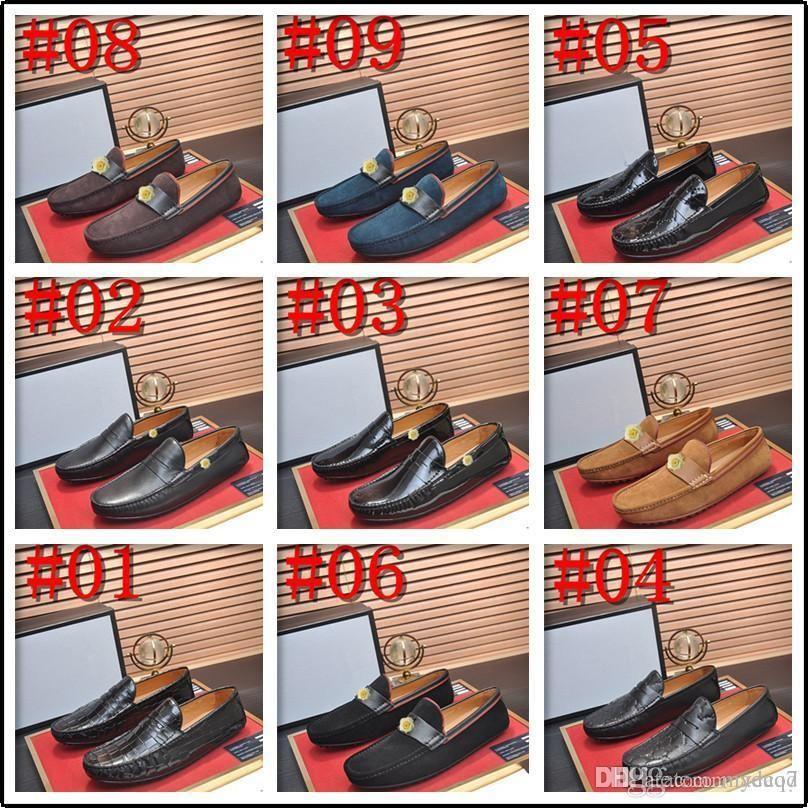C5 Mocassini da uomo Slip on Genuine Pelle Mens Penny Mocassini Moda classica in pelle scamosciata di lusso Mens mocassino scarpe da uomo Big Size 33