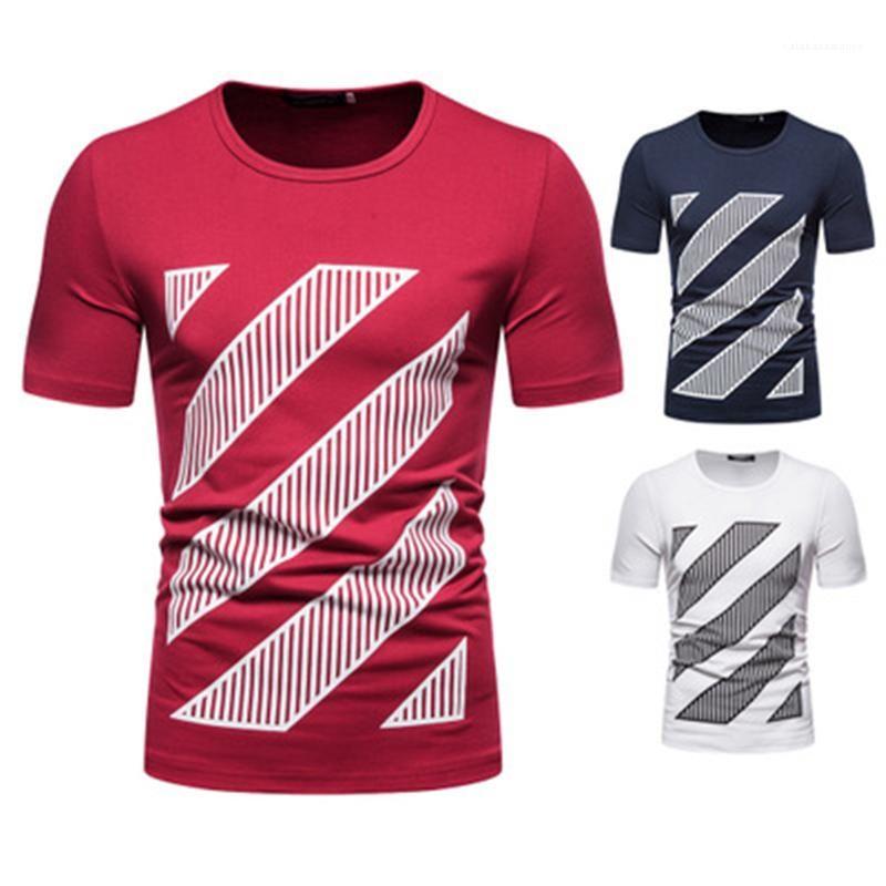 Печать с коротким рукавом повседневные топы тройники летние мужские новые круглые шеи свободные футболки мужская шаблон печать футболка мода тренд цифровой