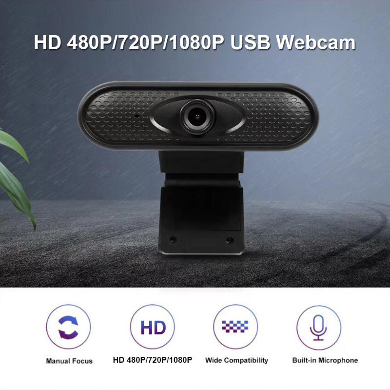 HD 480P 720P 1080P Веб-камера со встроенным микрофоном + настольный штатив USB Бесплатная веб-камера красоты для ПК