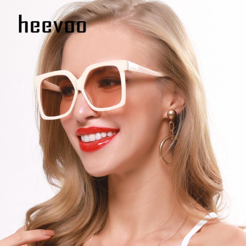 Nuevas gafas de sol cuadradas Mujeres de gran tamaño para hombre gafas de sol para mujer Remache de moda de moda Gafas de gradiente negro Gafas de Sol