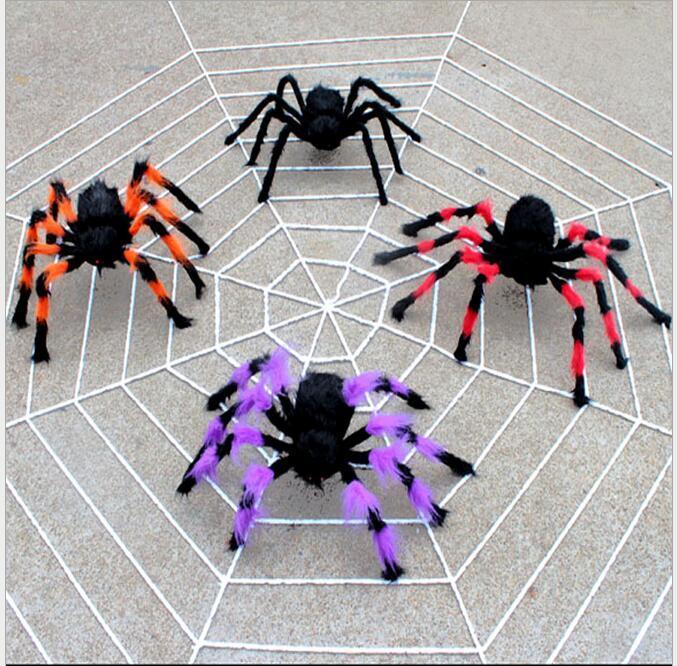 Cadılar bayramı Sahne Örümcek Çocuklar Festivali Komik Oyuncak Parti Bar için KTV Cadılar Bayramı Dekorasyon Peluş Örümcek Casuely Bebek Hediye