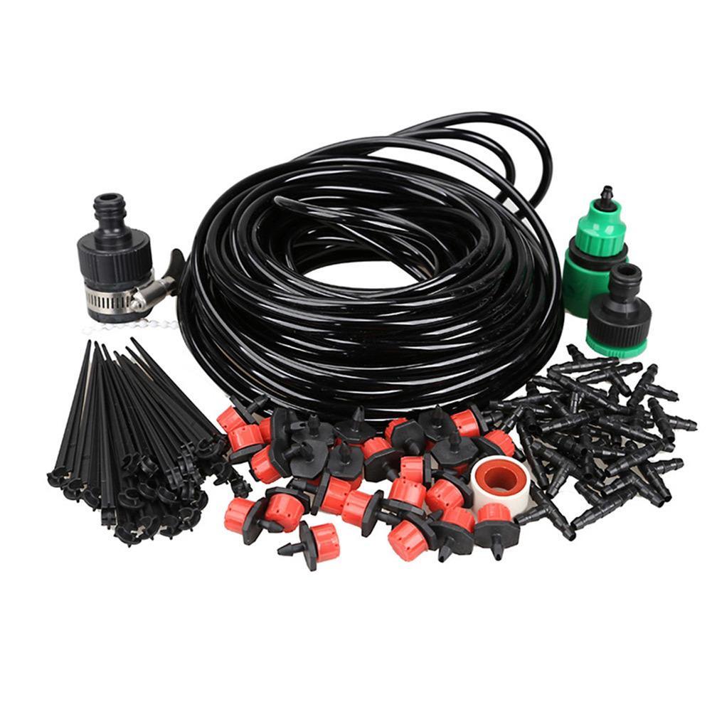 10-25 m Sistema de riego de bricolaje Jardín automático Micro Drip Kits de riego con goteros ajustables Kit de manguera TB Q1128
