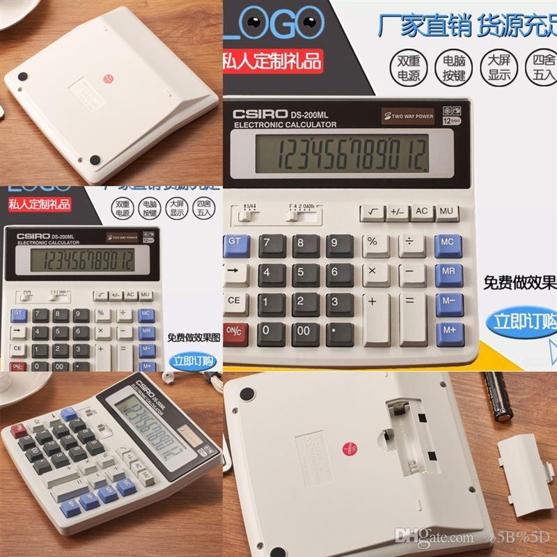 SZF Casillo Big Button Calculadora solar Calcululación de 12 bits Calculatorcs-200ml Office regalos Casillo Big Button Calculadora solar 12 bit