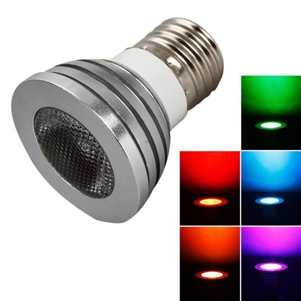 E27 5W 85V-265V RGB 원격 제어 스폿 라이트 램프 스포트 라이트 가정용 가벼운 가벼운 탑 - 학년 소재를위한 전구